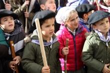 Nuestros alumnos cantan en honor a Santa Águeda.